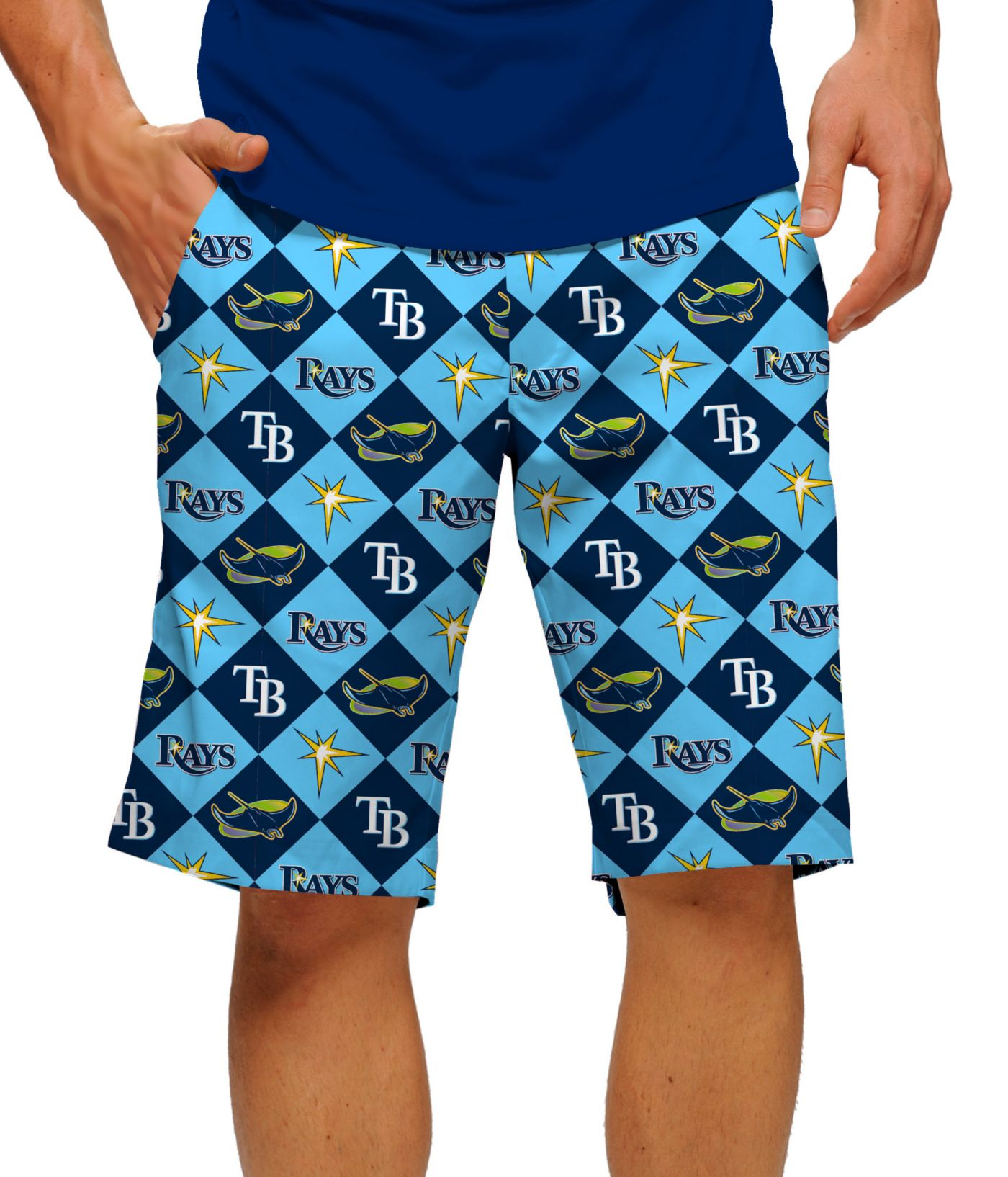 Loudmouth Men's Tampa Bay Rays Golf Shorts