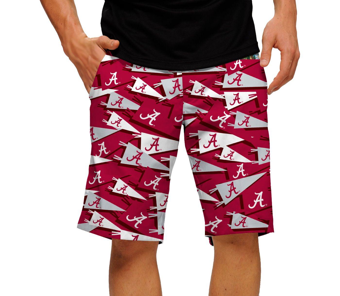 Loudmouth Men's Alabama Crimson Tide 'Roll Tide' Golf Shorts
