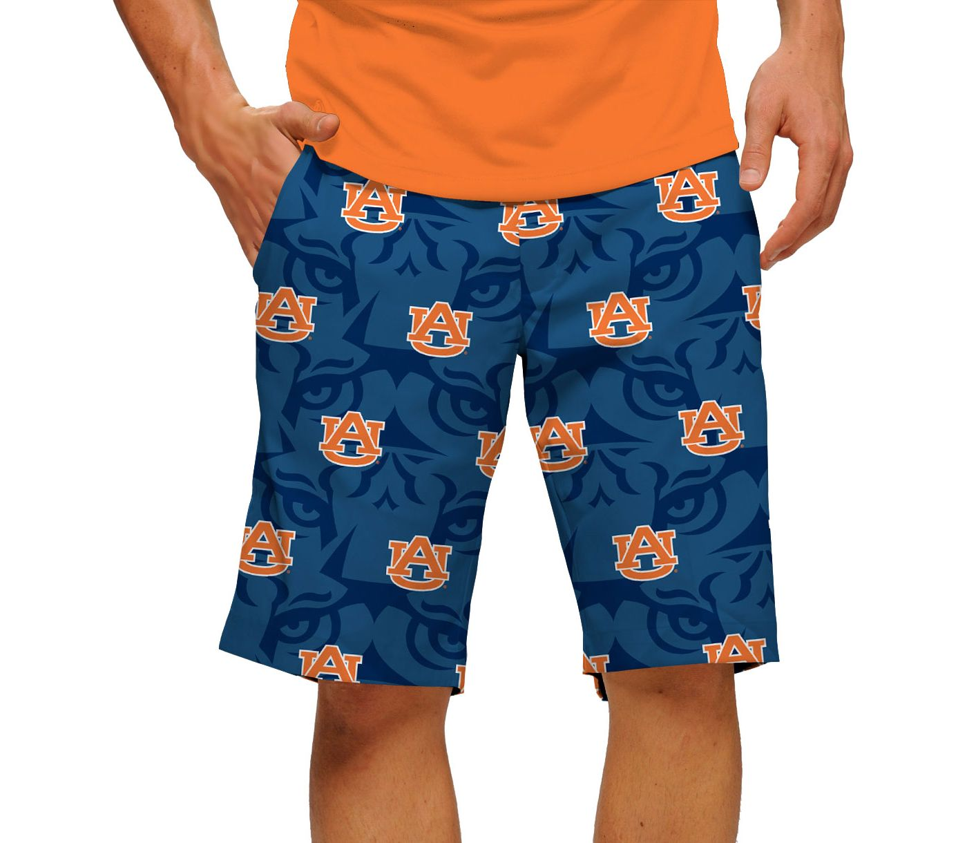 Loudmouth Men's Auburn Tigers 'Fearless & True' Golf Shorts