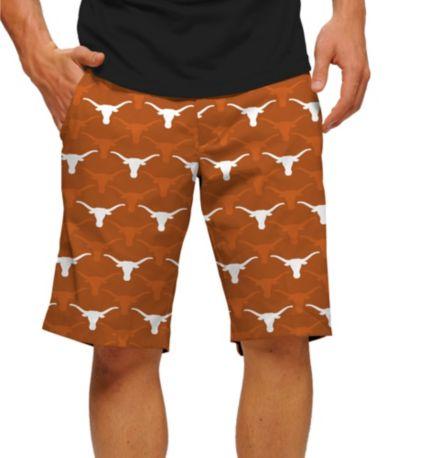 Loudmouth Men's Texas Longhorns 'Hook Em' Stretchtech Golf Shorts