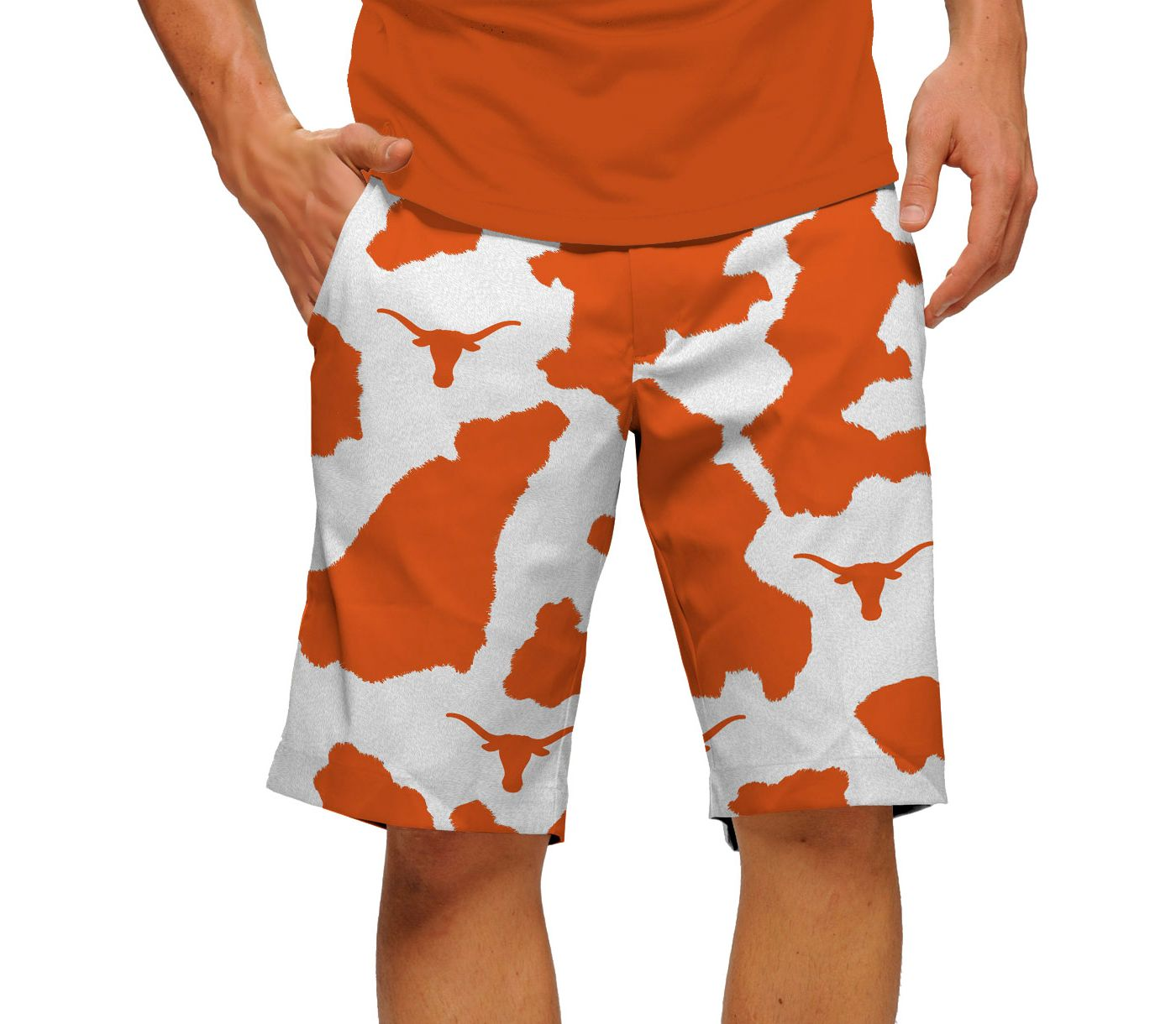 Loudmouth Men's Texas Longhorns 'Bevo' Golf Shorts