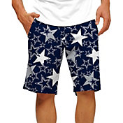 Loudmouth Golf Men's Dallas Cowboys StretchTech Navy Shorts
