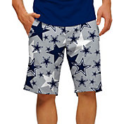 Loudmouth Golf Men's Dallas Cowboys StretchTech Silver Shorts