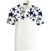 Loudmouth Golf Men's Dallas Cowboys Fancy White Polo