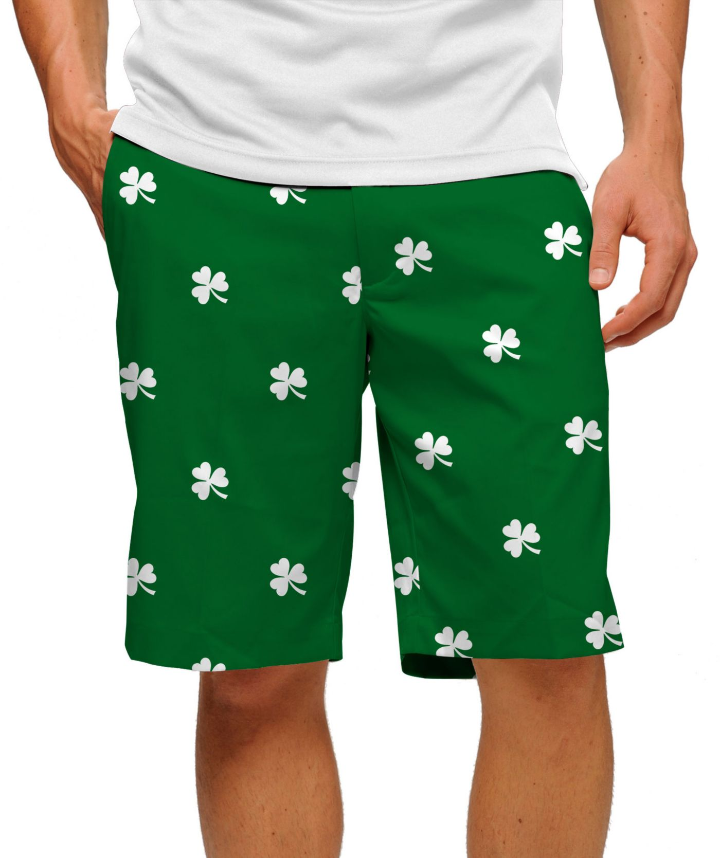 Loudmouth Men's Shamrock Stretch Tech Golf Shorts