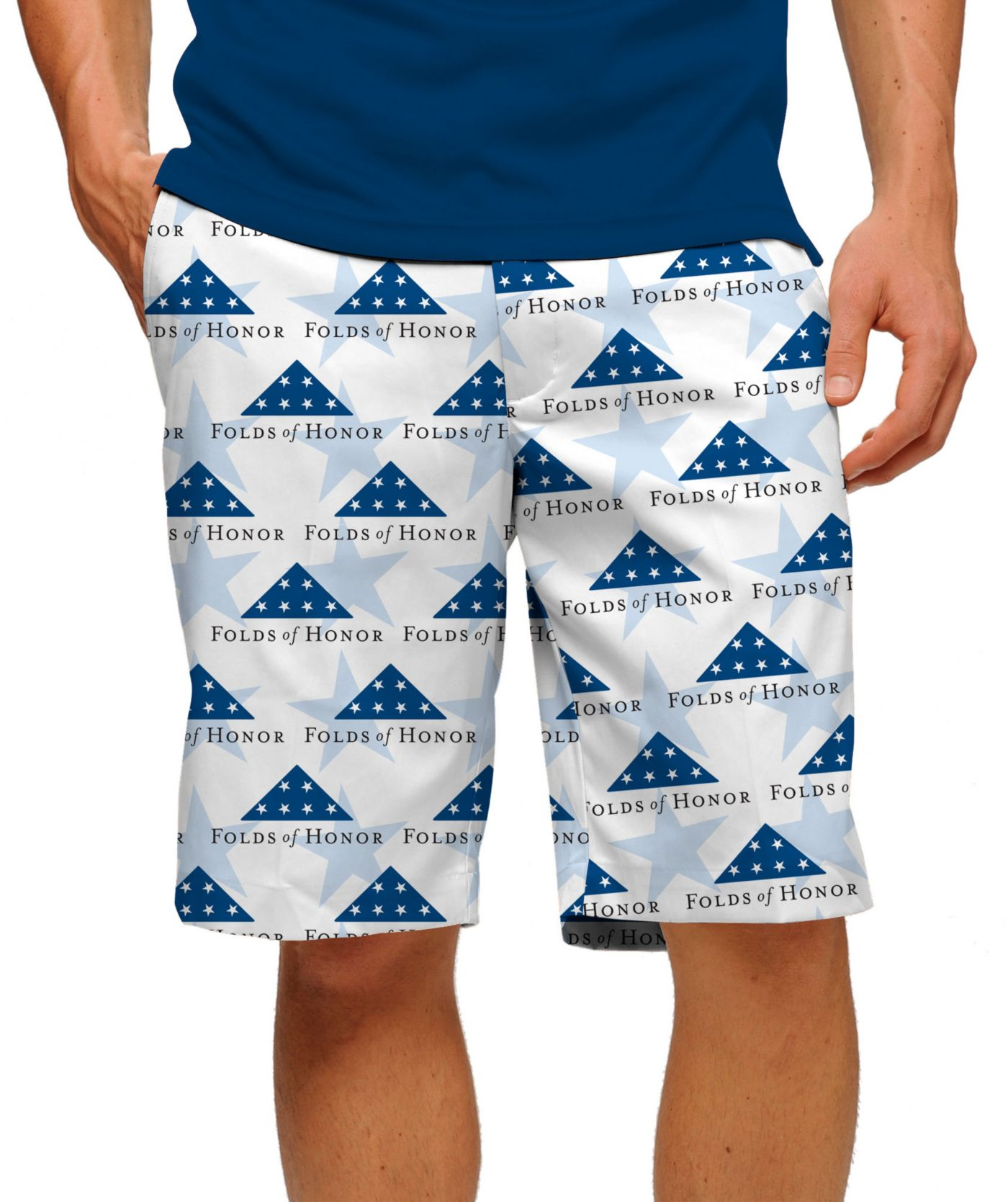 Loudmouth Men's Stars of Honor Stretch Tech Golf Shorts