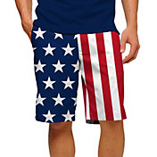 Loudmouth Men's Stars & Stripes Stretch Tech Golf Shorts