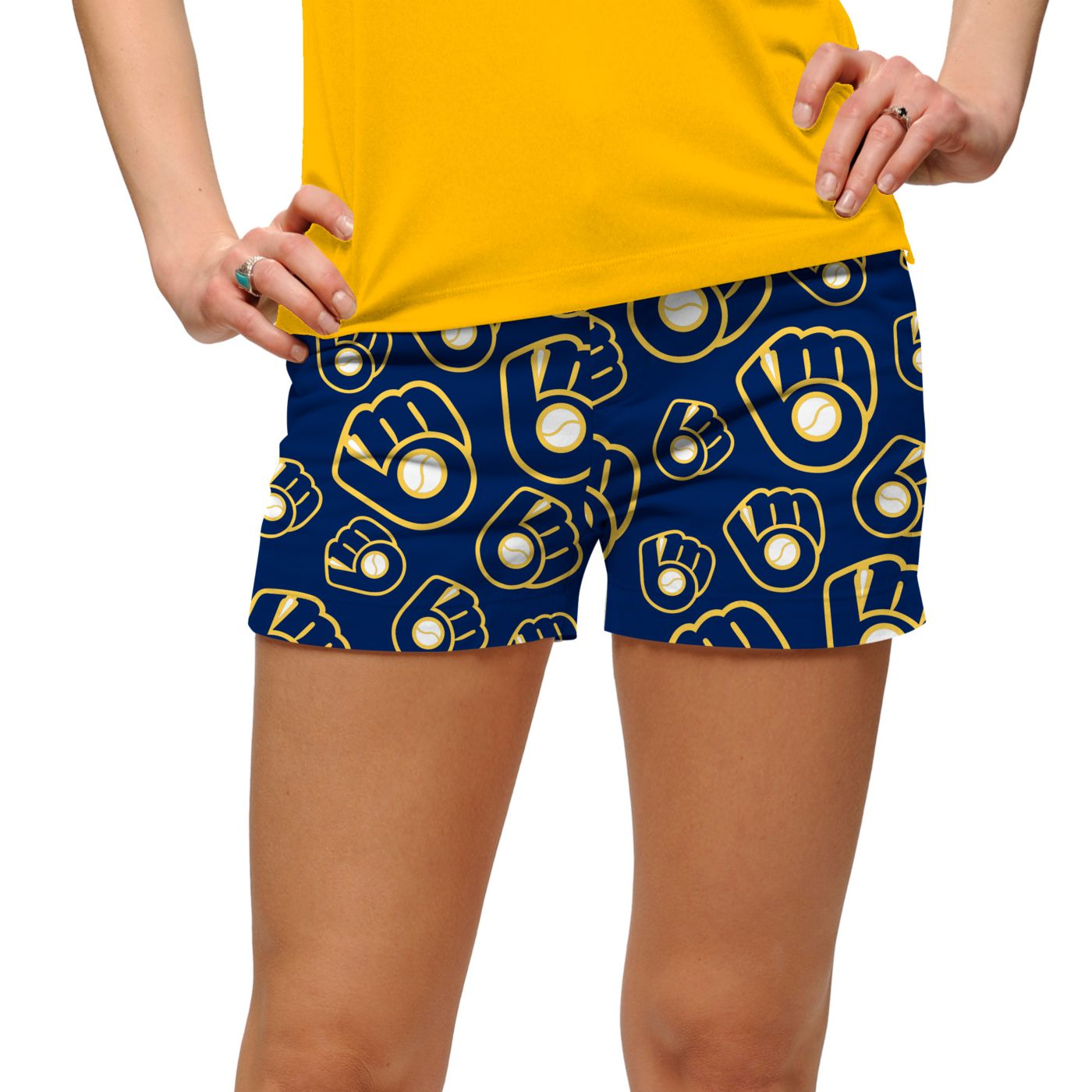 Loudmouth Women's Milwaukee Brewers Golf Mini Shorts