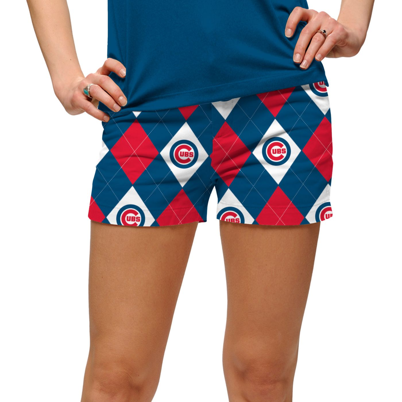 Loudmouth Women's Chicago Cubs Golf Mini Shorts