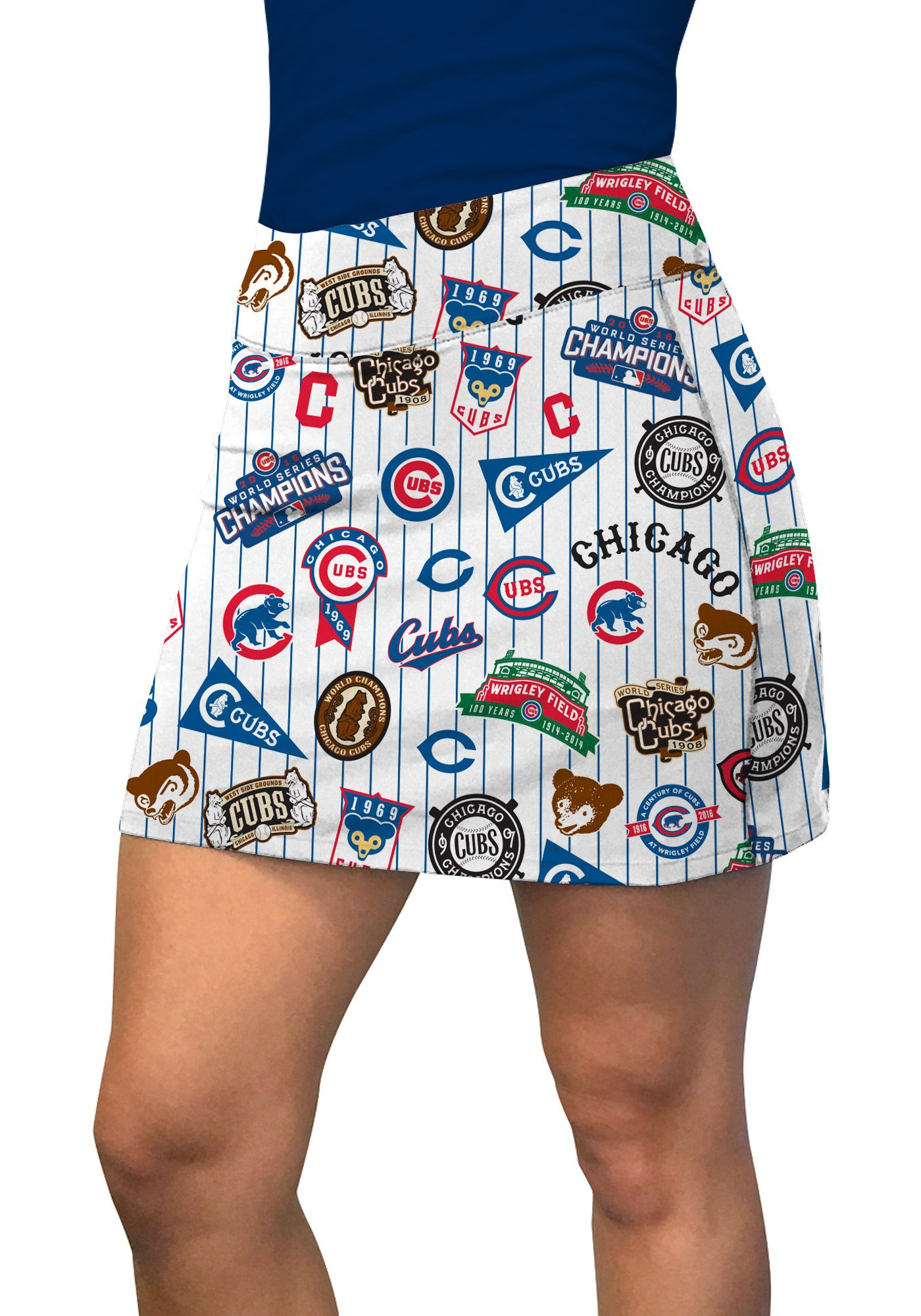Loudmouth Women's Chicago Cubs Golf Skort