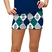 Loudmouth Golf Women's Seattle Mariners Navy Argyle Performance Shorts