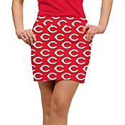 Loudmouth Golf Women's Cincinnati Reds Red Stretchtech Performance Golf Skort