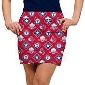 Loudmouth Women's Texas Rangers Golf Skort