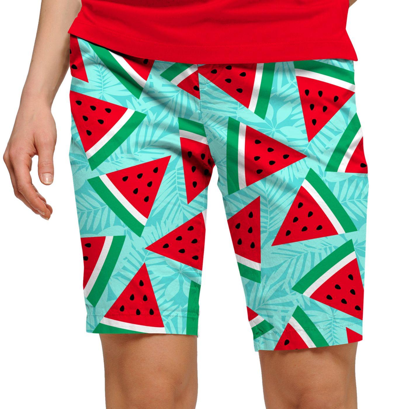 LoudMouth Women's Melons StretchTech Golf Bermuda Shorts