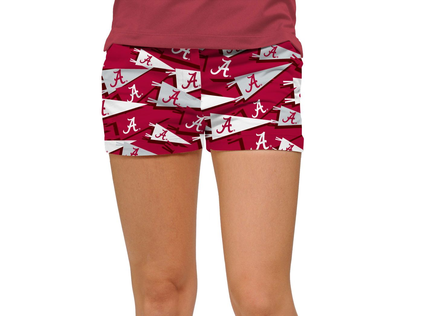 Loudmouth Women's Alabama Crimson Tide 'Roll Tide' Mini Golf Shorts