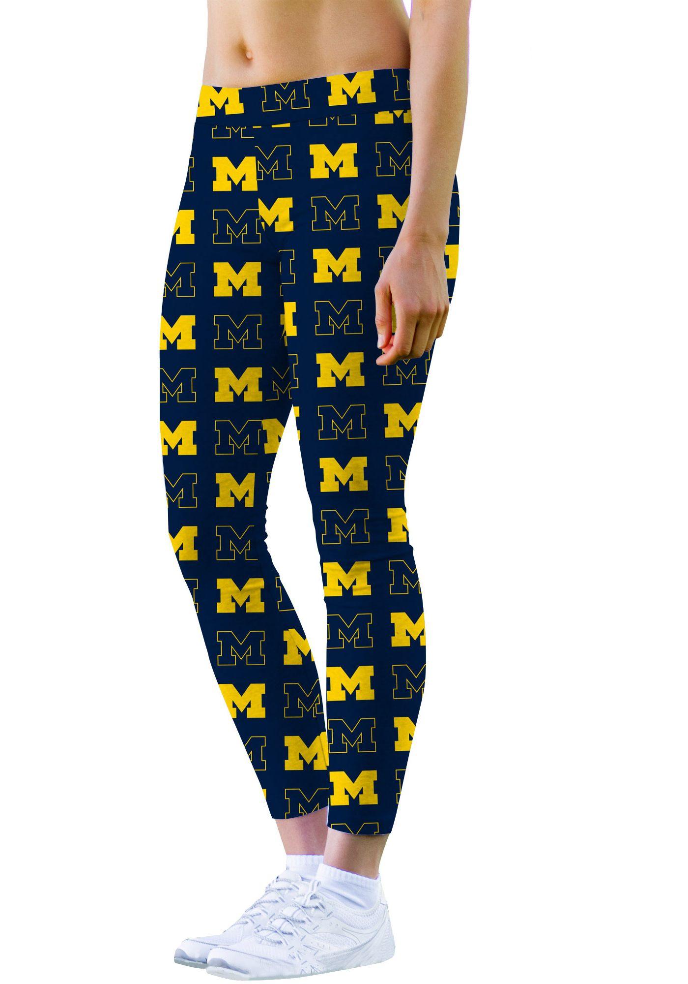 Loudmouth Women's Michigan Wolverines 'Go Blue' Leggings