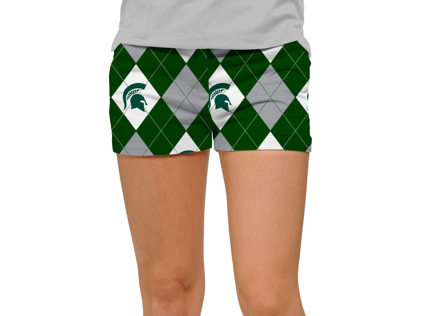 Loudmouth Women's Michigan State Spartans 'Sparty On' Mini Golf Shorts