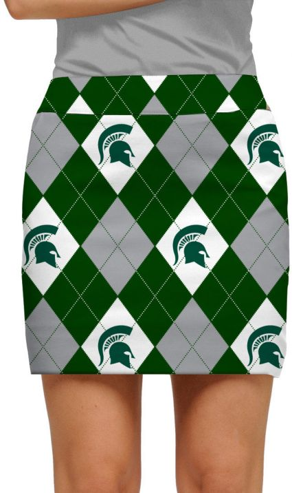 Loudmouth Women's Michigan State Spartans 'Sparty On' Active Golf Skort