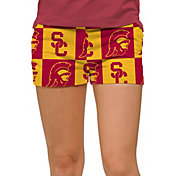 Loudmouth Women's USC Trojans 'Fight On' Stretchtech Mini Golf Shorts