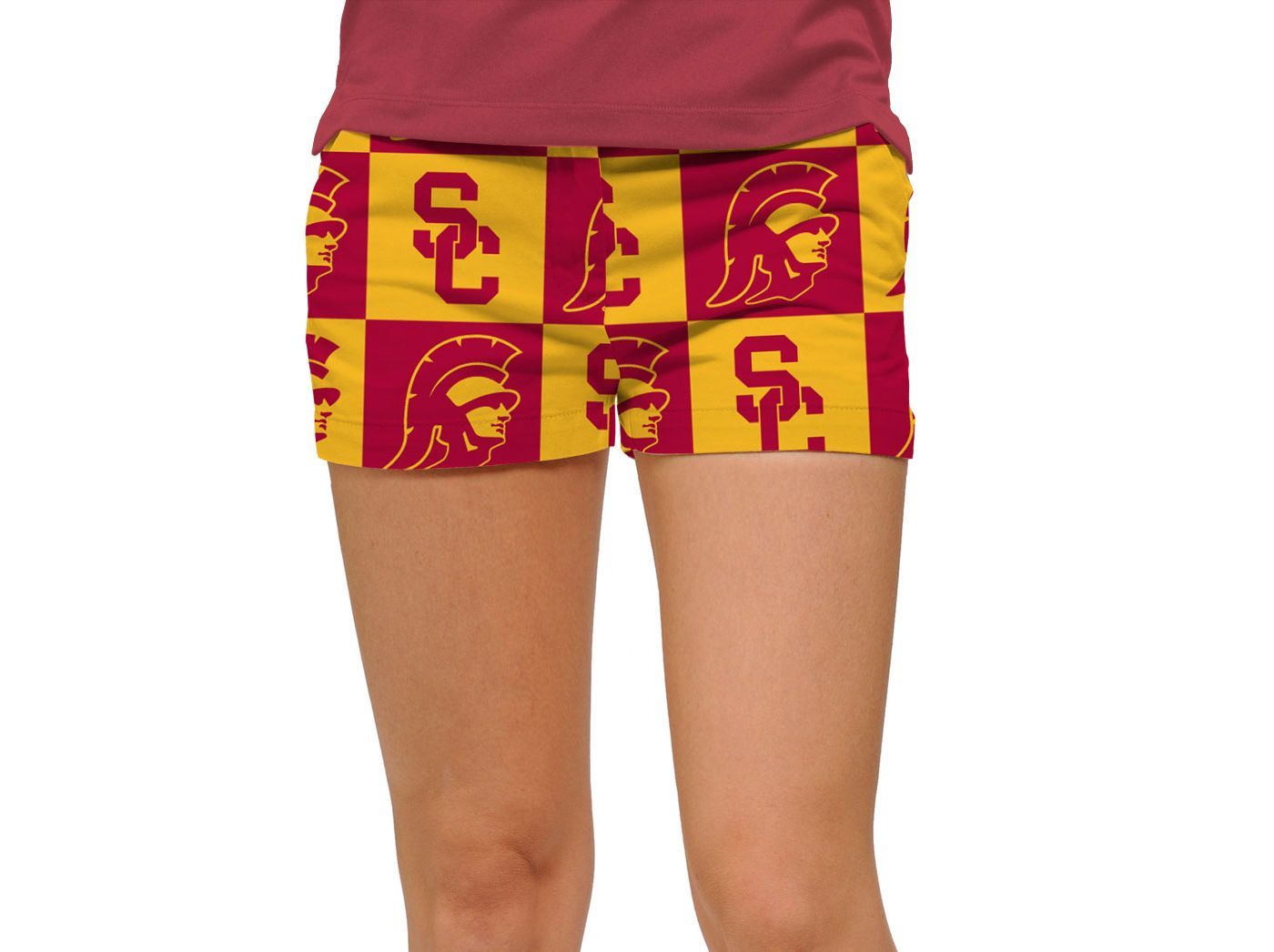 Loudmouth Women's USC Trojans 'Fight On' Mini Golf Shorts