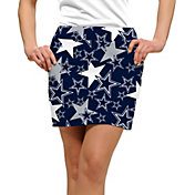 Loudmouth Golf Women's Dallas Cowboys StretchTech Navy Skort