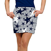 Loudmouth Golf Women's Dallas Cowboys StretchTech Silver Skort