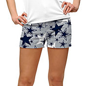 Loudmouth Golf Women's Dallas Cowboys StretchTech Silver Mini Shorts
