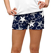 Loudmouth Golf Women's Dallas Cowboys StretchTech Navy Mini Shorts