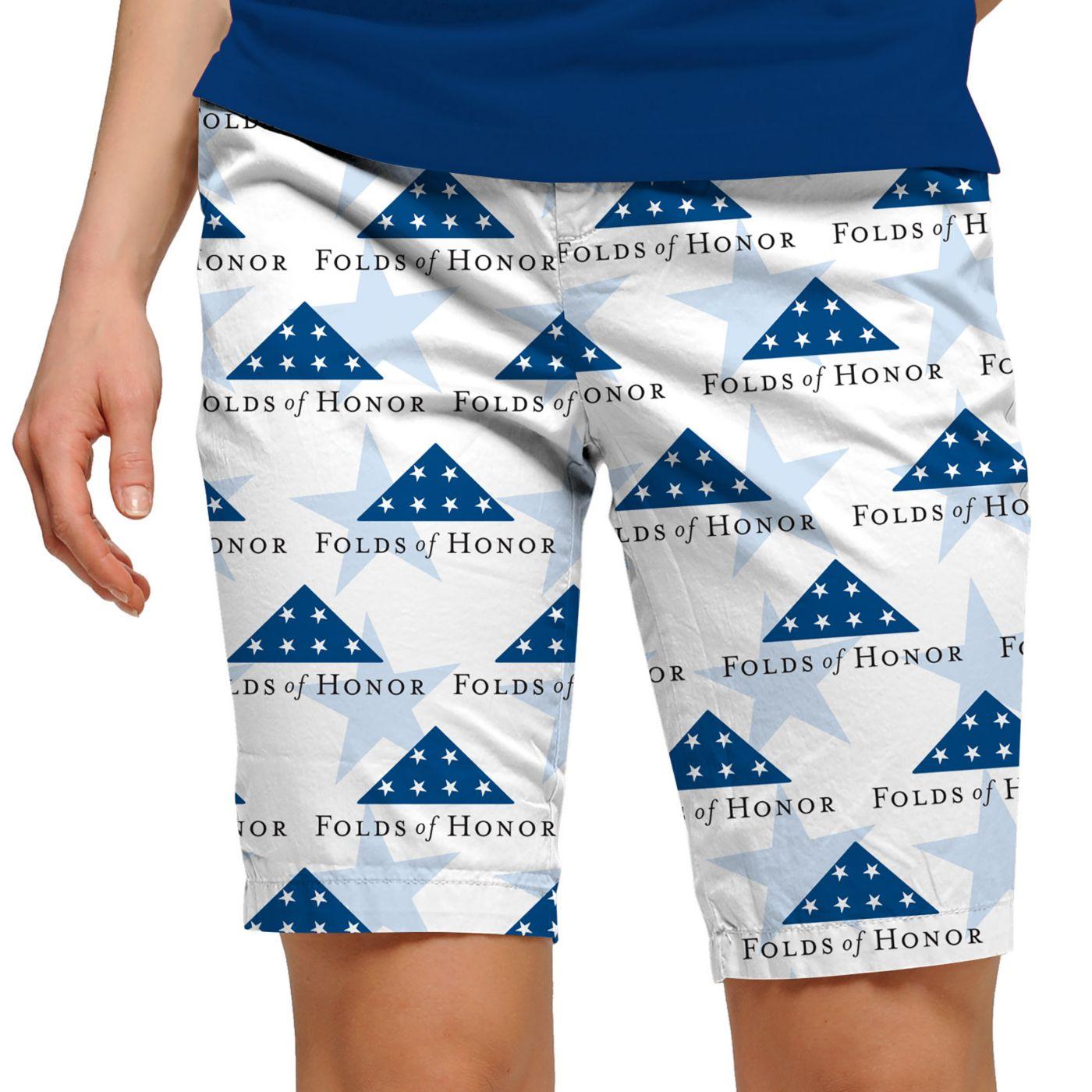 Loudmouth Women's Stars of Honor Bermuda Golf Shorts
