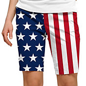Loudmouth Women's Stars & Stripes Bermuda Golf Shorts