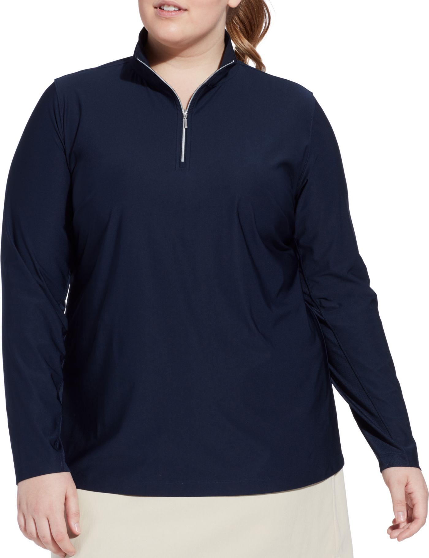 Lady Hagen Women's UV ¼-Zip Golf Pullover - Extended Sizes