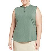 Lady Hagen Women's Bomber Collar Sleeveless Golf Polo - Extended Sizes
