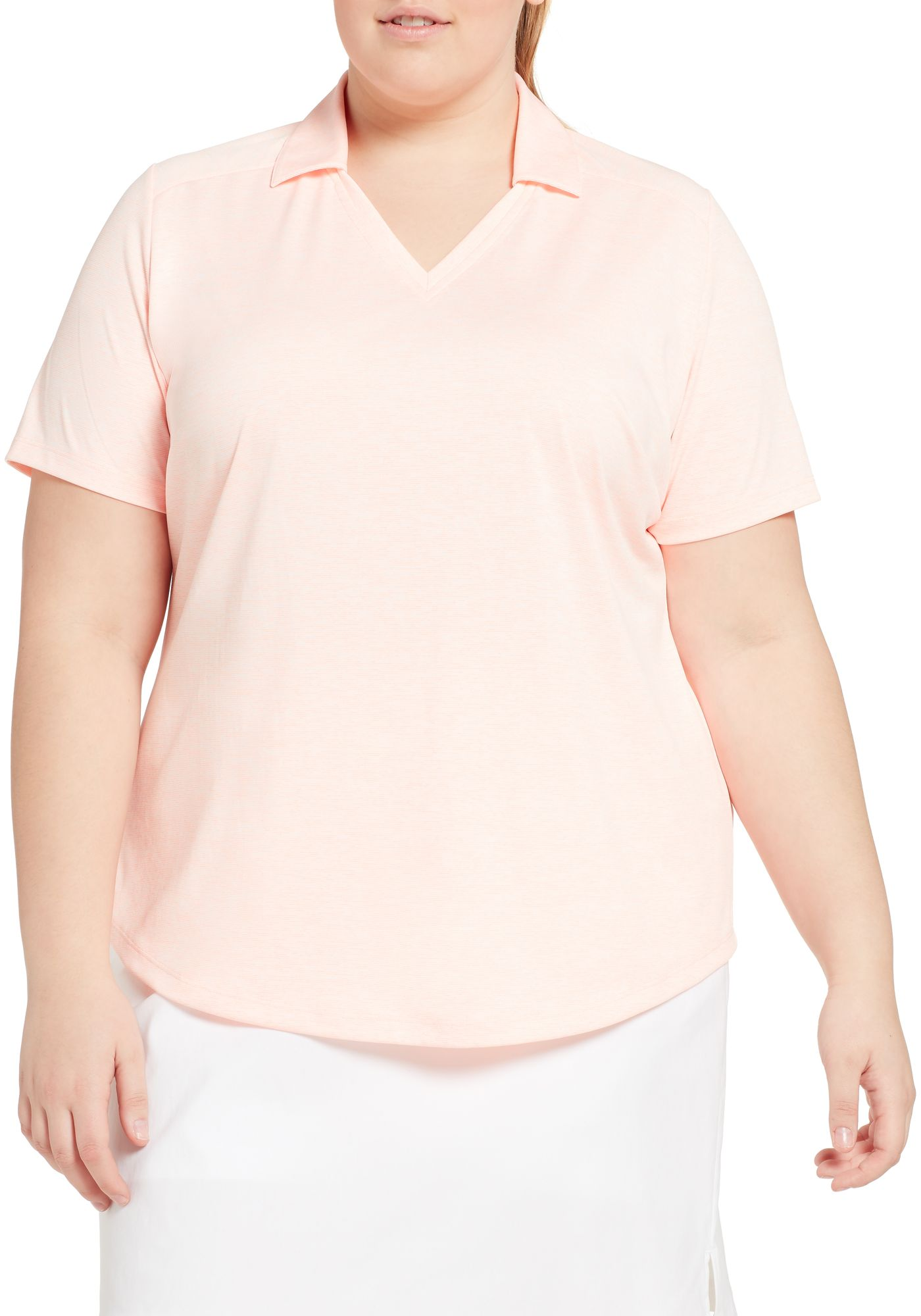 Lady Hagen Women's Spacer Textured Short Sleeve Golf Polo - Extended Sizes