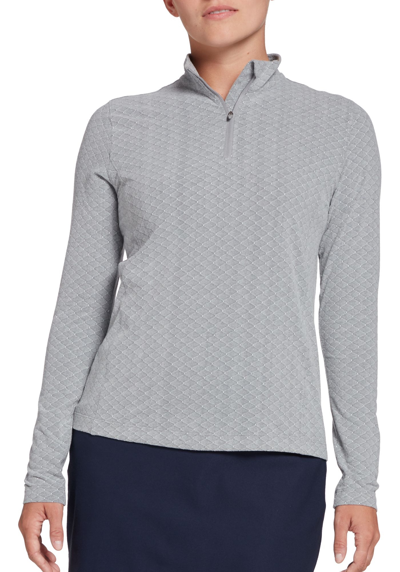 Lady Hagen Women's Diamond Texture ¼-Zip Golf Pullover