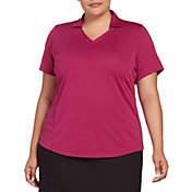 Lady Hagen Women's Solid Golf Polo - Extended Sizes