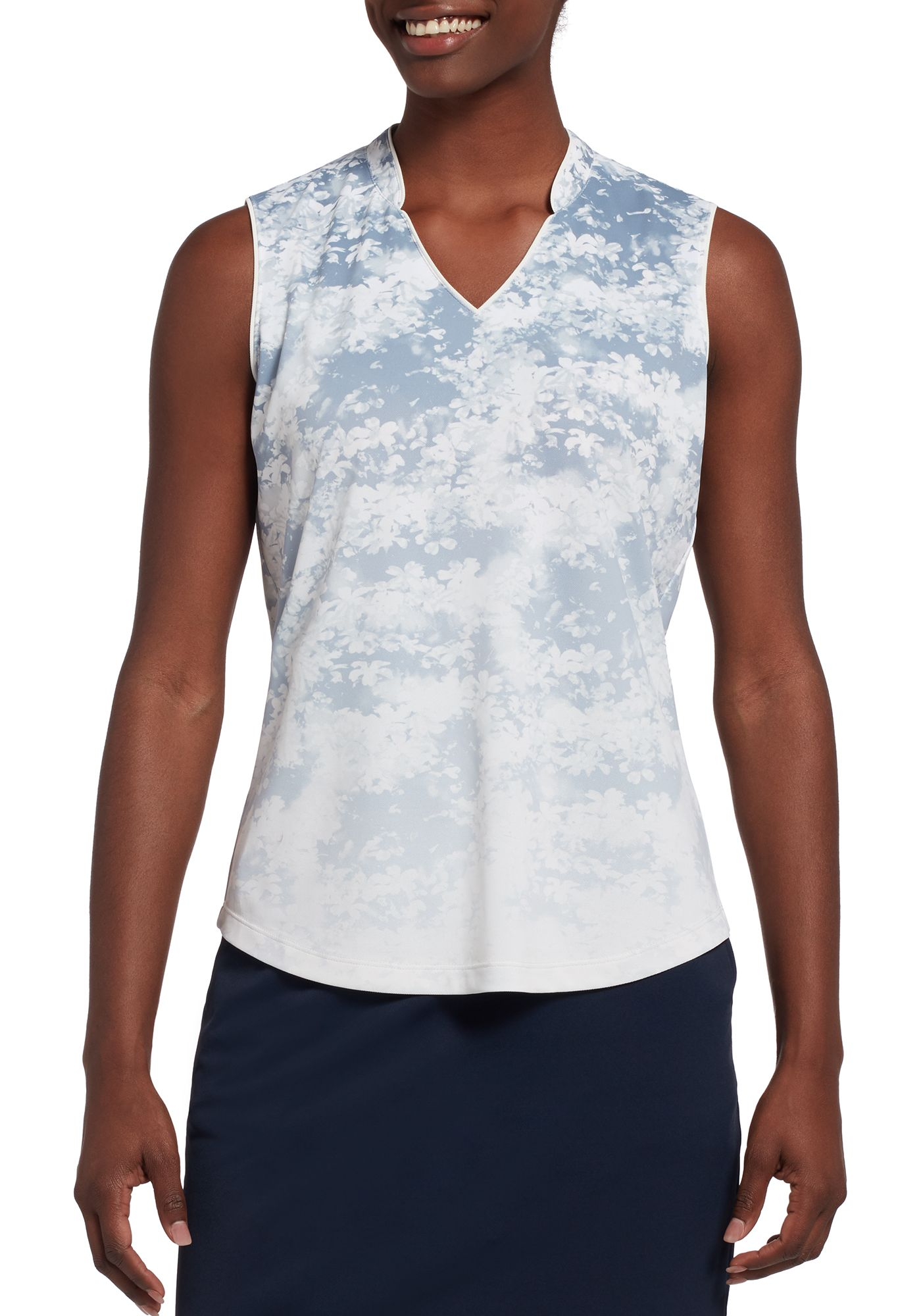 Lady Hagen Women's Ombre Printed Sleeveless Golf Polo