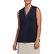 Lady Hagen Women's Rib Trim Sleeveless Golf Polo