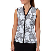 Lady Hagen Women's Empower Collection Floral Print Sleeveless Golf Polo