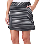 Lady Hagen Women's Empower Collection Variegated Stripe Woven Golf Skort