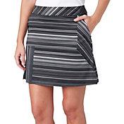 Lady Hagen Women's Empower Collection Variegated Stripe Woven Golf Skort