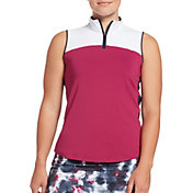 Lady Hagen Women's Colorblock Mock Neck Sleeveless Golf Polo