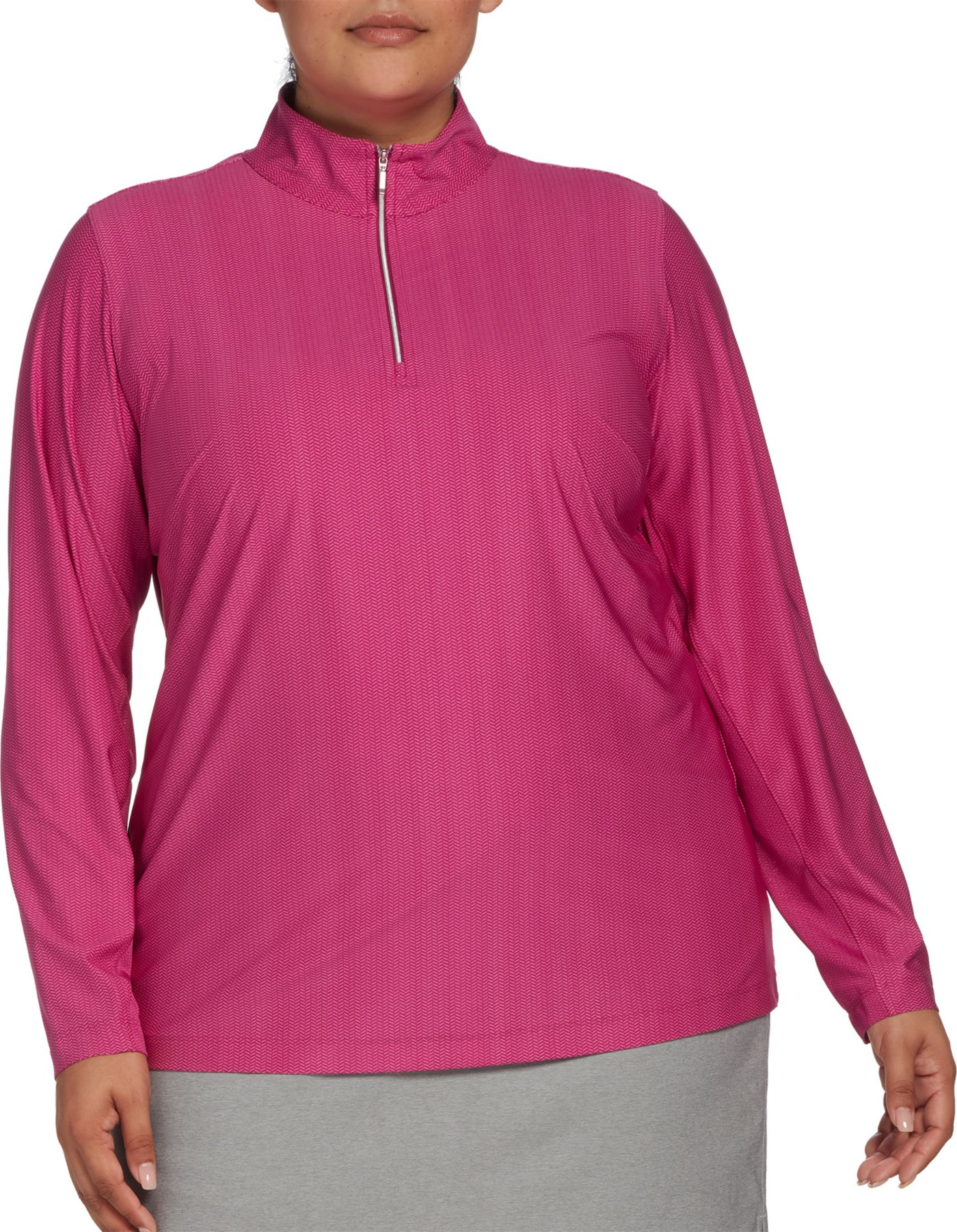 Lady Hagen Women's Printed UV ¼-Zip Golf Pullover - Extended Sizes