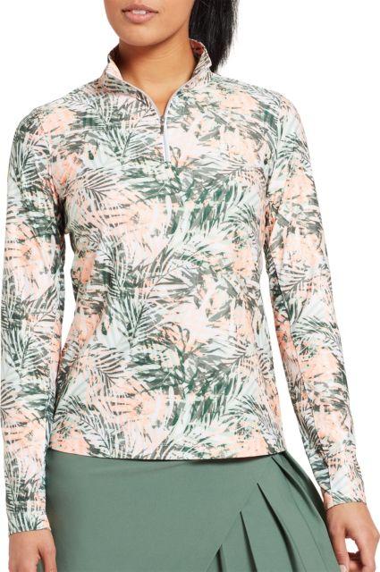Lady Hagen Women's UV Printed Long Sleeve Golf ¼-Zip
