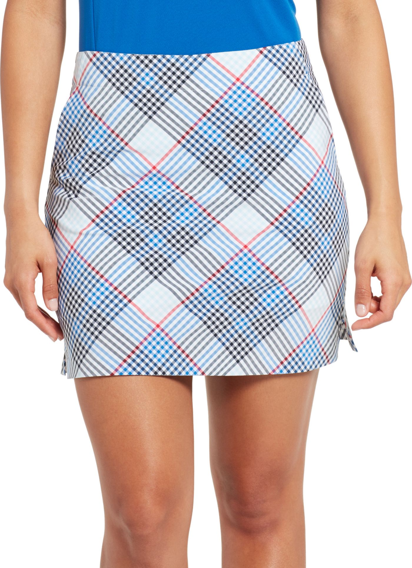 Lady Hagen Gingham Woven Golf Skort