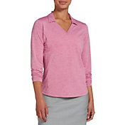 Lady Hagen Women's Spacedye Long Sleeve Golf Polo