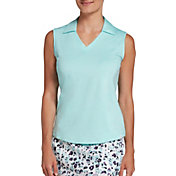 Lady Hagen Women's Spacedye Sleeveless Golf Polo