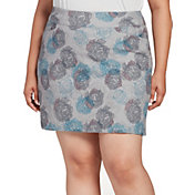 Lady Hagen Women's Floral Printed Tummy Control Golf Skort - Extended Sizes