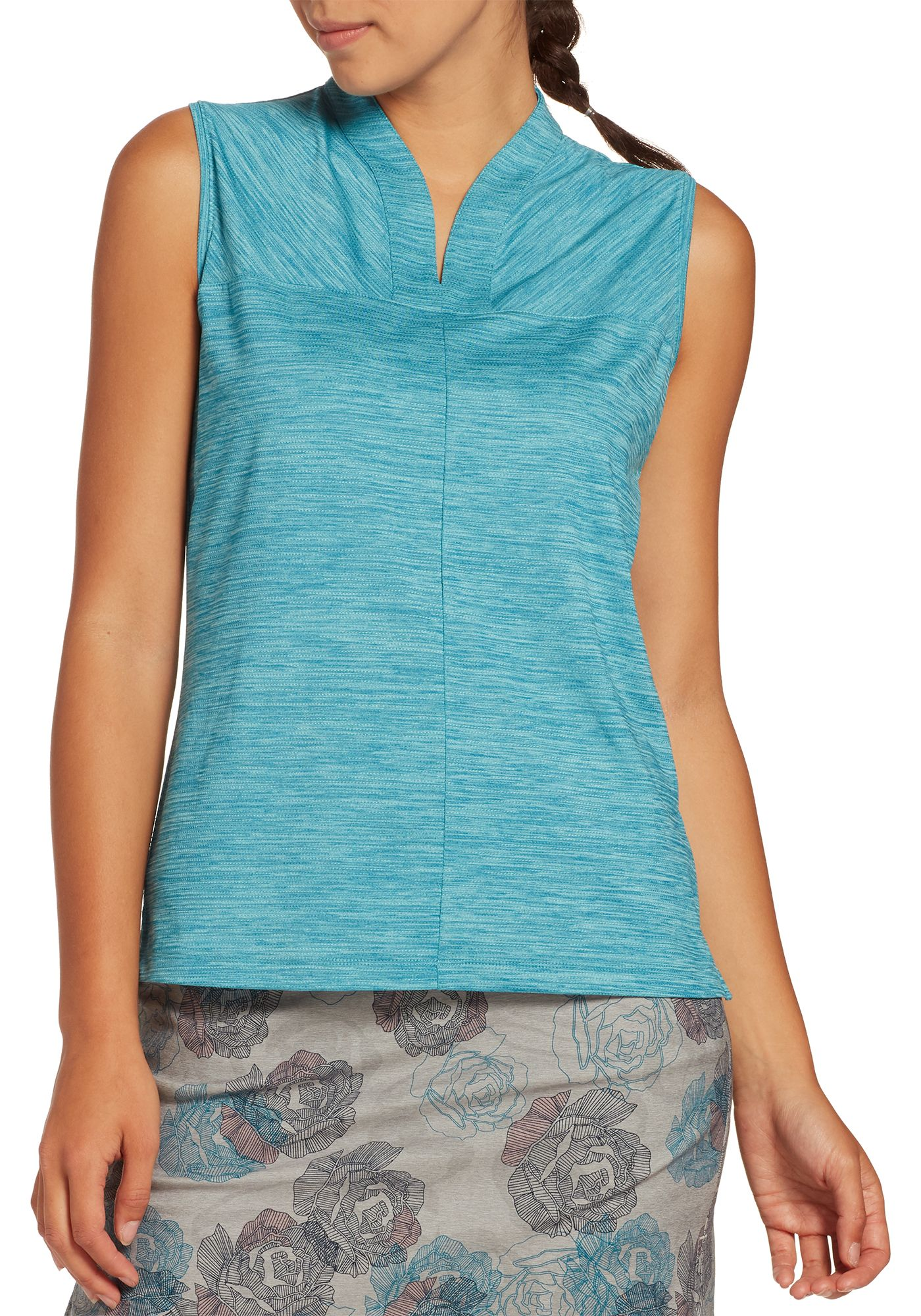 Lady Hagen Women's Tranquil Collection Mock Neck Sleeveless Golf Polo