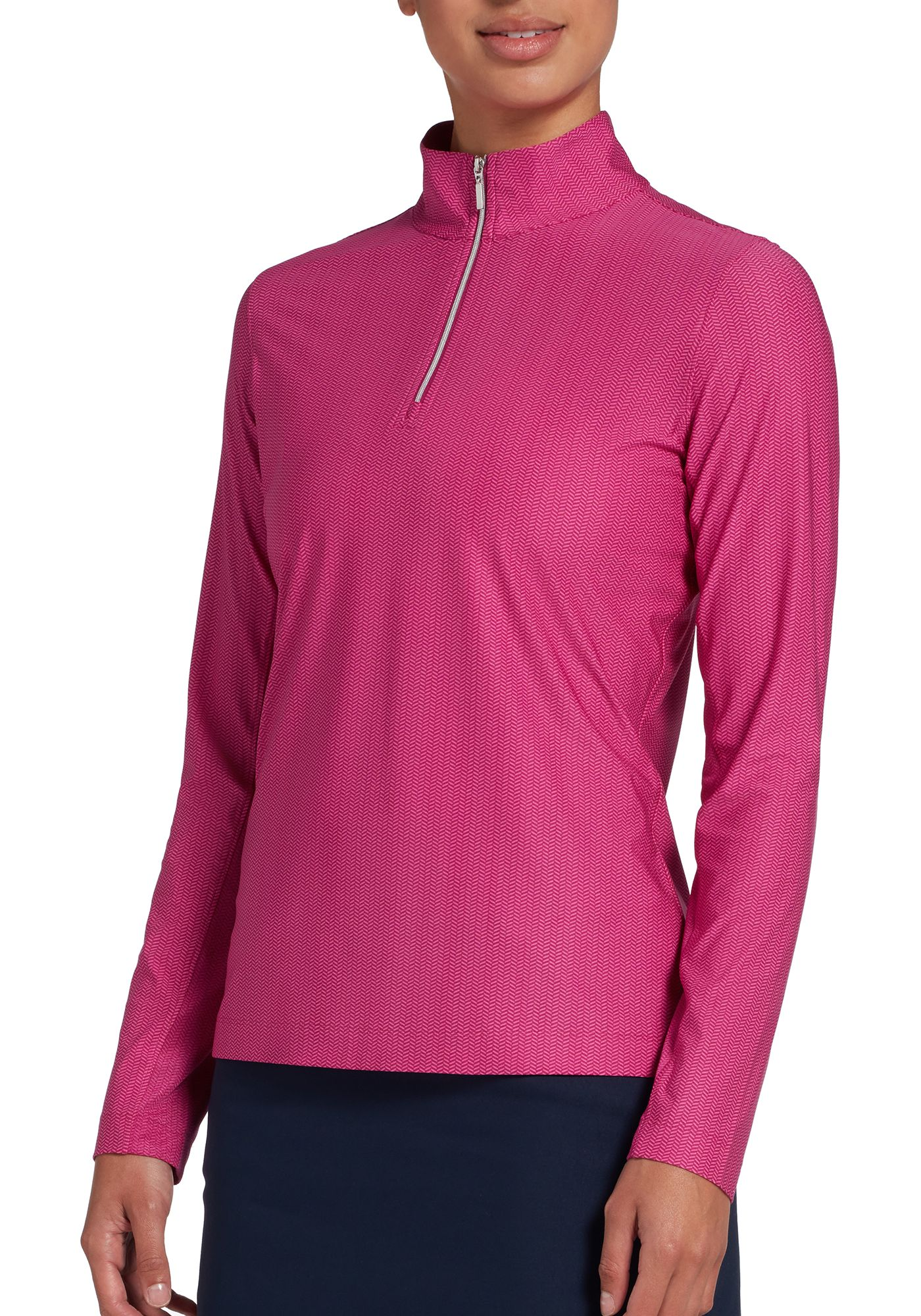 Lady Hagen Women's Printed UV ¼-Zip Golf Pullover