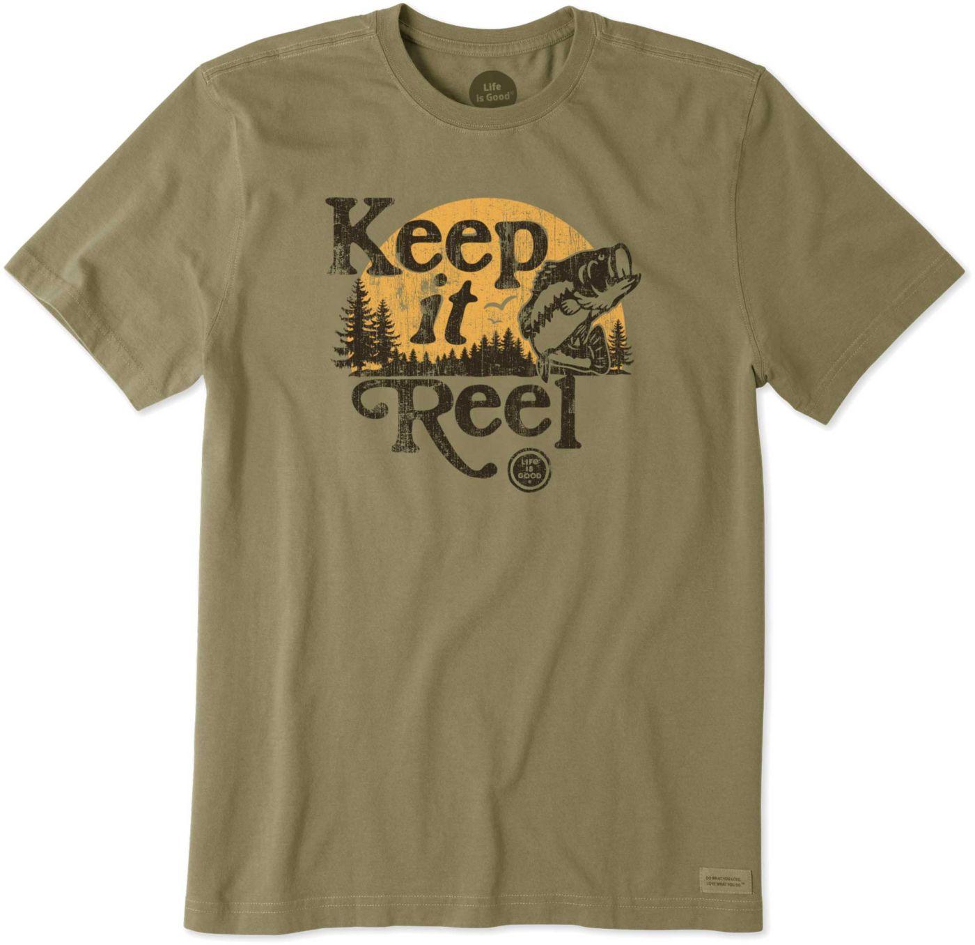 Life is Good Men's Keep it Reel Crusher T-Shirt